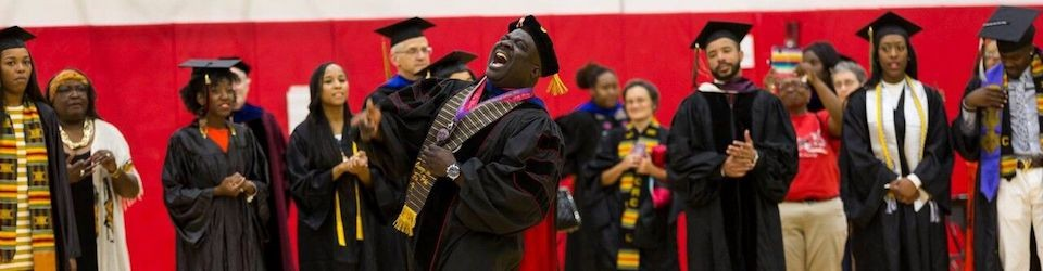 Image of africana studies professors and students at graduation