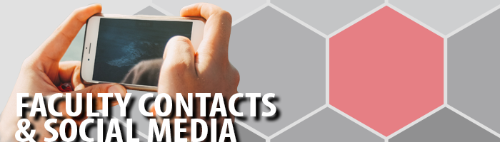 Faculty contacts and social media page