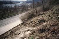 Photo of erosion on Columbia Parkway