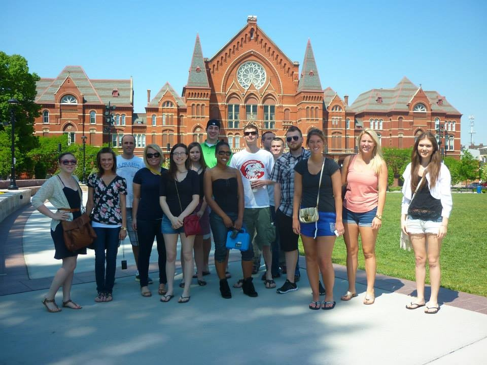 German Department Students in front of Music Hall