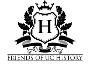 friends of UC History logo with a capital H in the middle